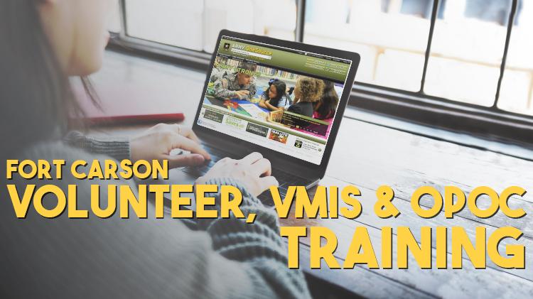 Volunteer, VMIS and OPOC Training