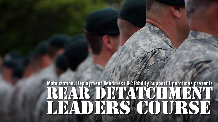 ACS Rear Detachment Leaders' Course