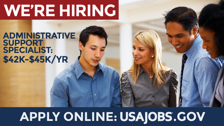Now Hiring Administrative Support Specialist: Closing 9/18/19, $42K-$45K
