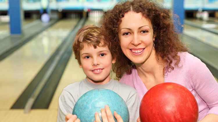 Mommy and Me Bowling