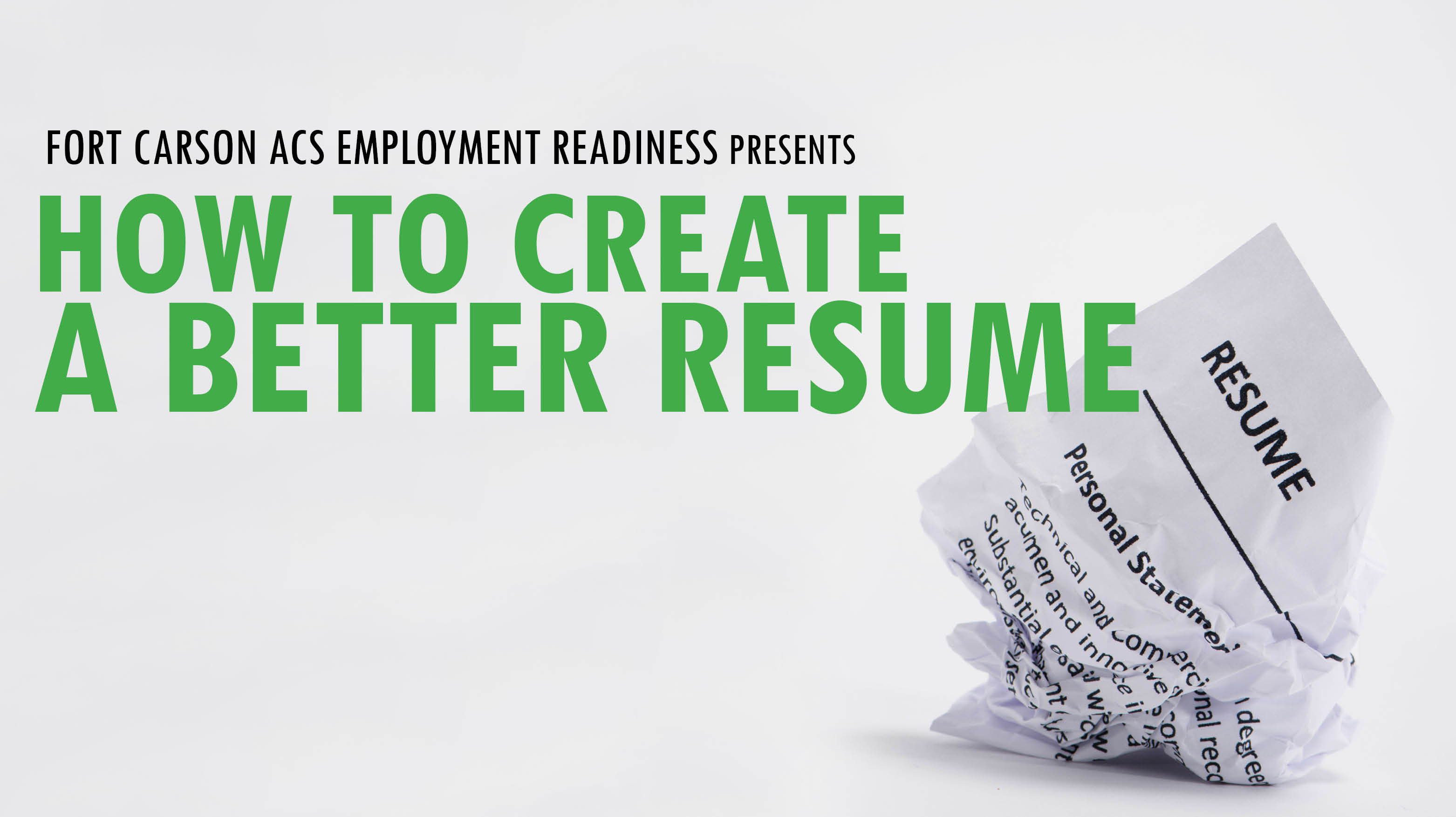 How to Create a Better Resume
