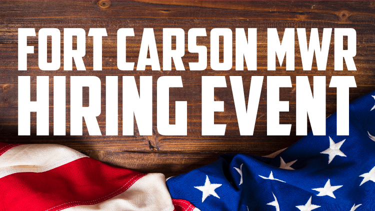 Fort Carson MWR Hiring Event